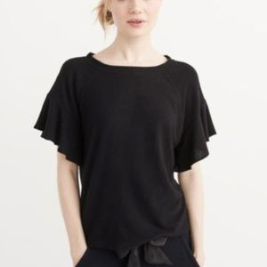 Black flutter shirt